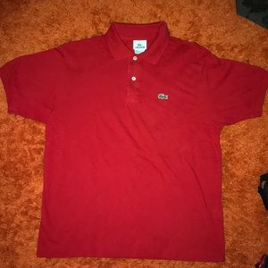 Men's LaCoste Red Shirt